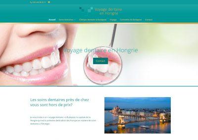 Voyage Dentaire francia nyelvű fogászati weboldal